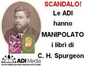 Le ADI hanno manipolato dei libri di Charles Spurgeon