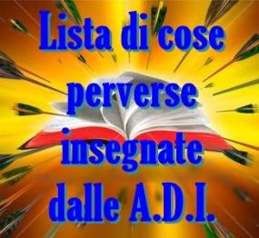 Lista di 116 cose perverse insegnate nelle Assemblee di Dio in Italia (ADI)